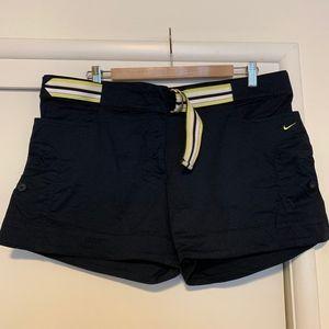 Nike Belted Cargo Shorts Size Large 12-14 Navy
